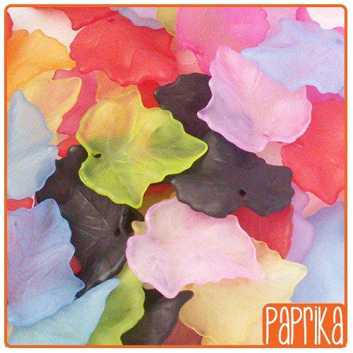 Mix 50 Perline foglia 23x25mm