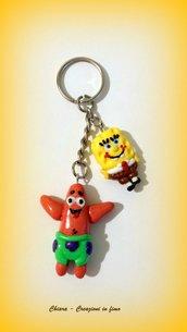 Portachiavi in fimo handmade Spongebob idee regalo festa del papà regalo