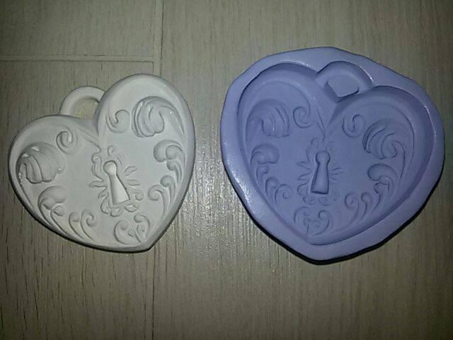 Stampo cuore per uso alimentare in gomma siliconica