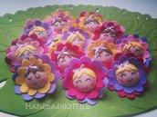 Bomboniera bimbi fiore primavera colorati Flowers kids Handmade KriTiLo