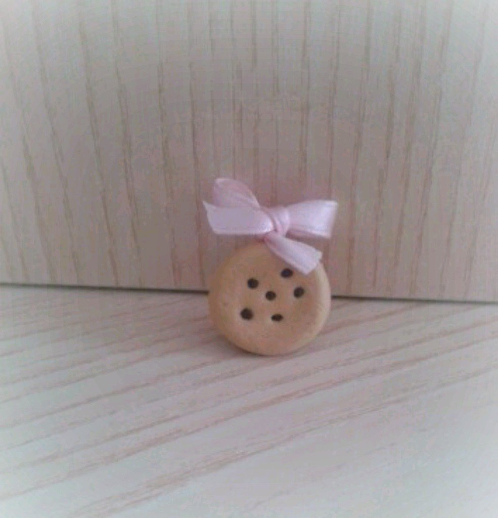 Bomboniera biscotto al cioccolato in fimo nascita battesimo comunione compleanno