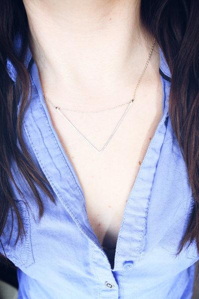 collana chevron, collana d'argento chevron