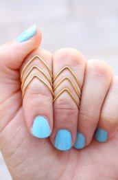 Set di 6 Chevron snodo Anelli - Above The Knuckle