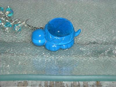 portachiavi tartaruga blu