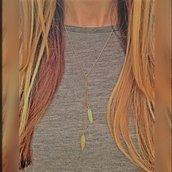 Lariat collana doppio Feather