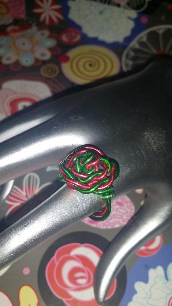 """Anello """"rosa"""" wire"""