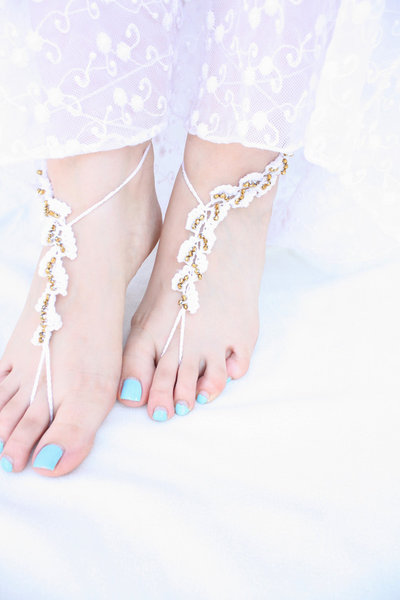 Sandali piedi nudi, sandali Gioielli piede