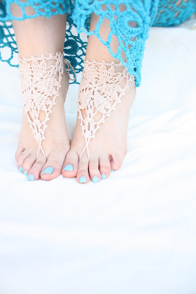 Beach Wedding sandali a piedi nudi