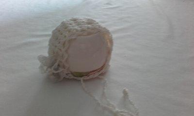 Cuffietta neonata in cotone