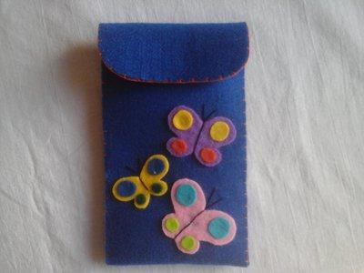 Portacellulare in feltro