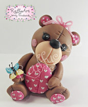 "Cake topper ""Lovely Little Bear"" (personalizzabile)"