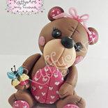 "Cake topper ""Lovely Little Bear"" (personalizzabile)"