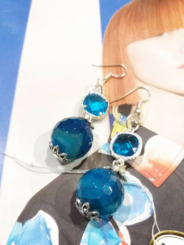 orecchini azzurri agata
