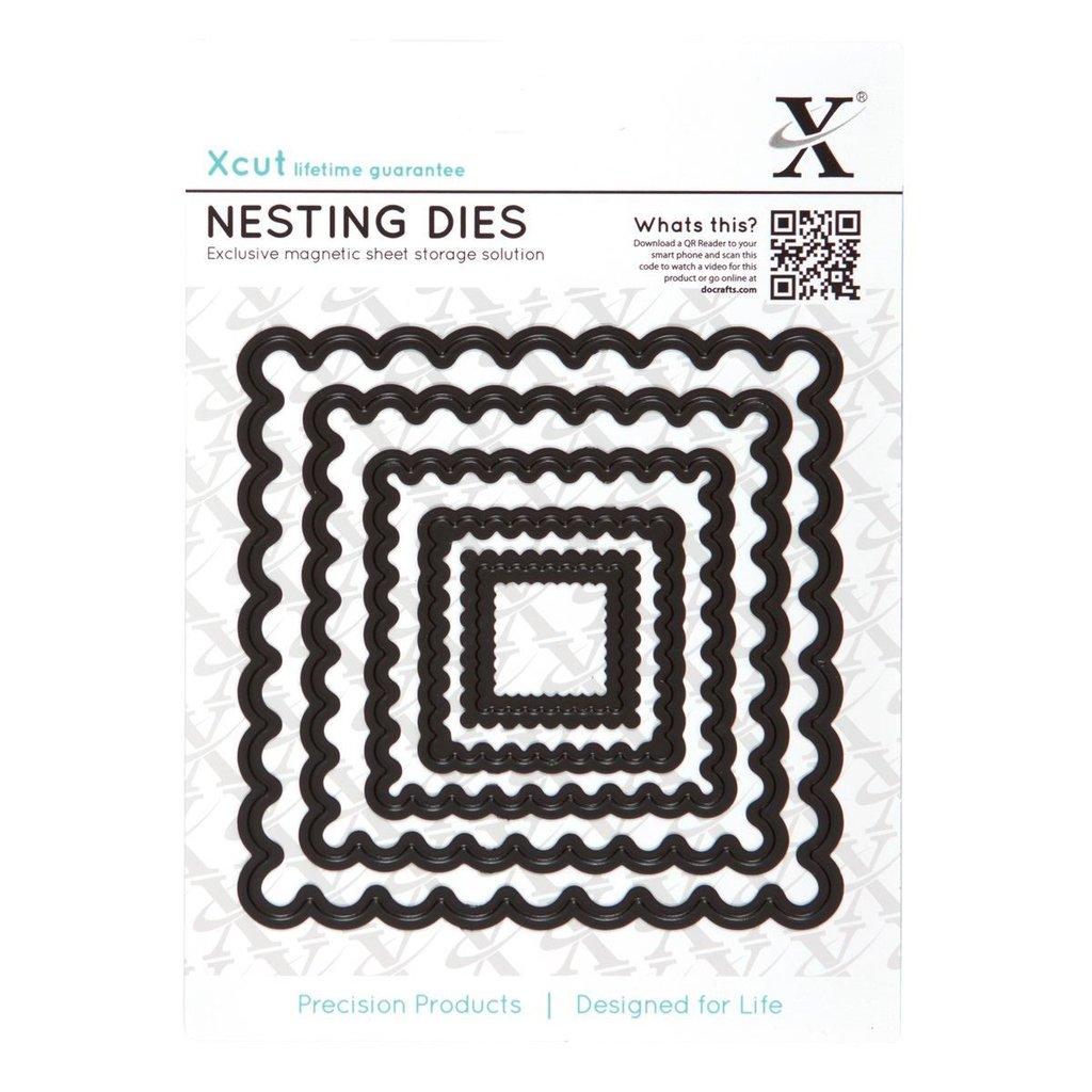 Xcut Nesting Dies (5pcs) - Scalloped Square (XCU 503404)