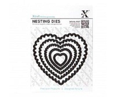 Xcut Nesting Dies (5pcs) - Scalloped Heart (XCU 503407)