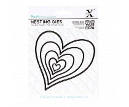 Xcut Nesting Dies (5pcs) - Homespun Heart (XCU 503418)
