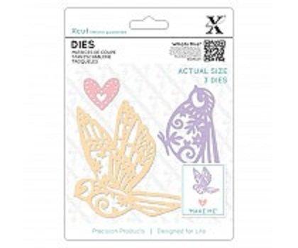 Xcut Dies (3pcs) - Patterned Birds (XCU 504075)