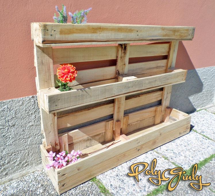 Fioriera da riuso bancale pallet,per giardino o terrazza - piante, fiori e orto in casa