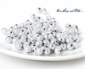 """NOVITA'! LOTTO 100 perle """"stardust silver"""" (8mm) (cod. new)"""