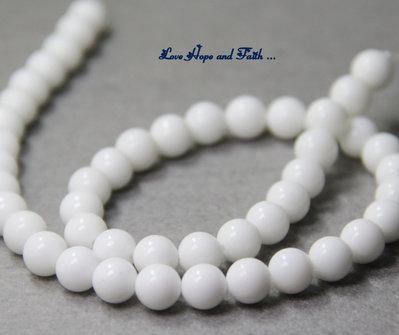 """NOVITA'! LOTTO 30 perle """"Agata bianca"""" (8mm) (cod. new)"""