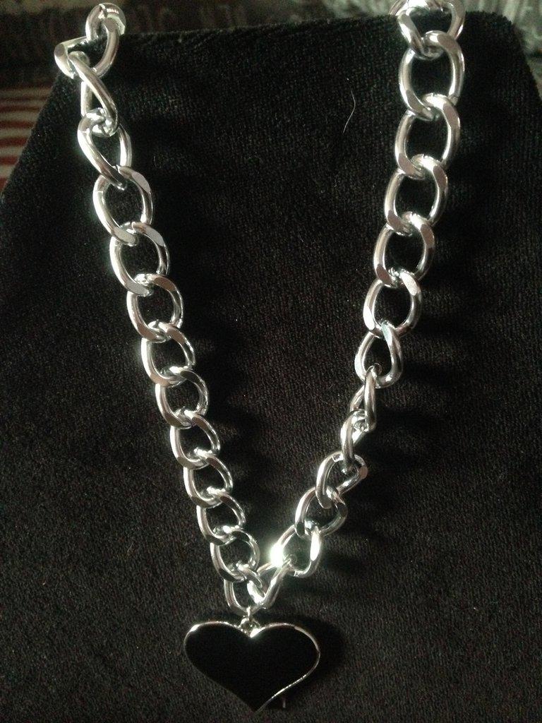collana cuore argento