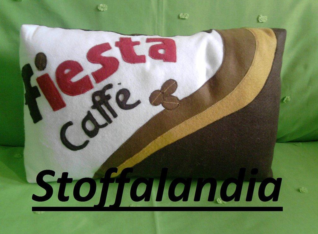 CUSCINO FIESTA CAFFE' IDEA REGALO