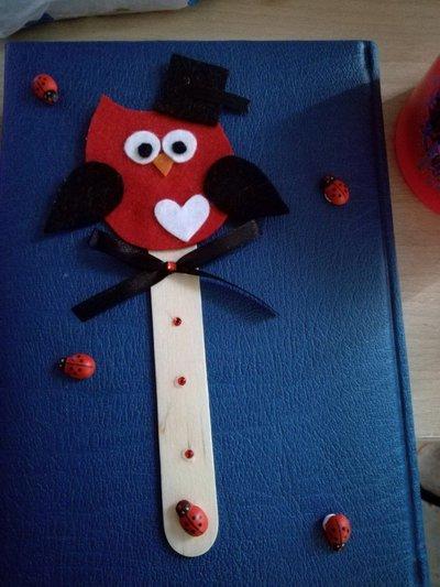 Segnalibro bomboniera laurea tocco feltro bastoncino fatto a mano confetti tocco