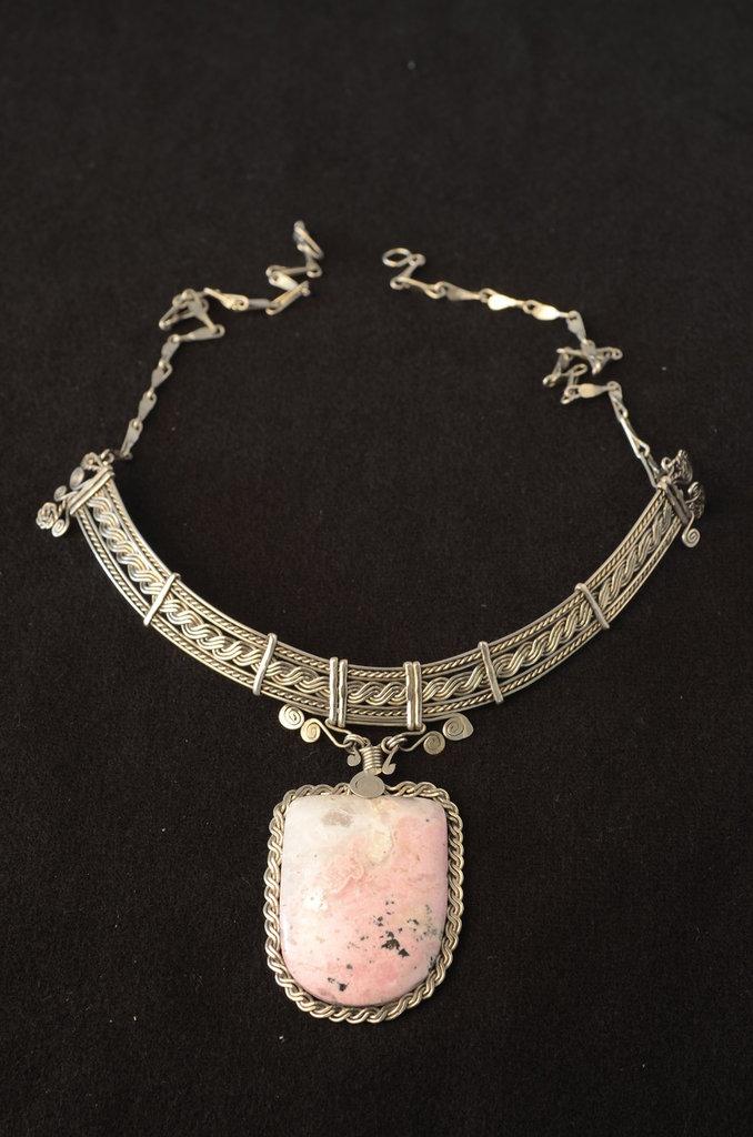 Collana del Risveglio con Pietra Rodocrosite