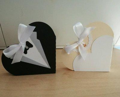 2 scatole bomboniera porta confetti matrimonio coppia sposa sposo nozze collana