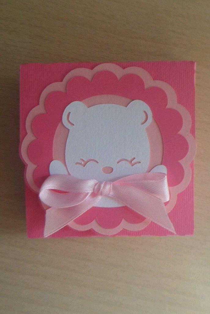 scatolina bomboniera porta confetti nascita battesimo orsetto