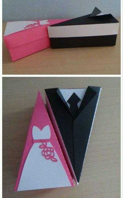 2 Scatole bomboniera porta confetti matrimonio sposa sposo torta (0,70 l'una)
