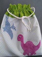 """Sacca """"Dinosauri"""" per il nido e la materna"""