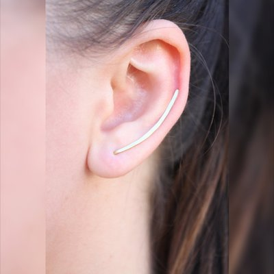Climbers dell'orecchio d'argento, semplice arco Bar Climbers Ear