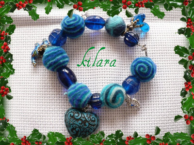 bracciale feltro blu