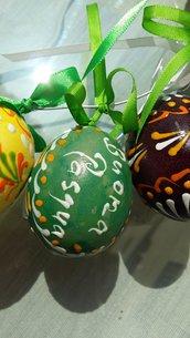 Uovo dipinto decorazione di Pasqua
