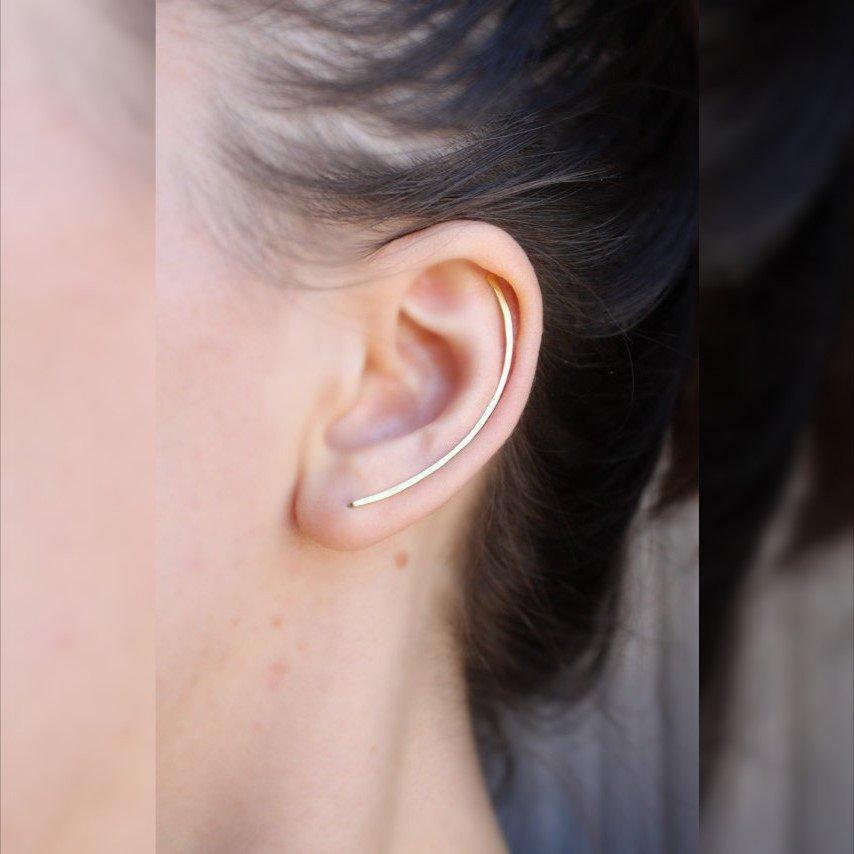 Orecchio Climber, Gioielli minimale, Arco Bar Climbers Ear
