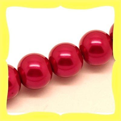 20 Perline cerate rosse 12mm