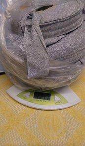 licra super leggera in rondella colore grigio lurex