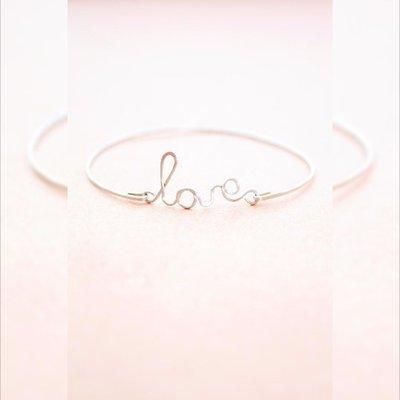 Argento in acciaio inox aperto il braccialetto del braccialetto Amore