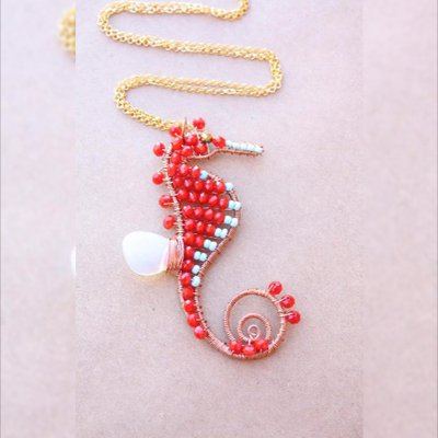 Blu cavalluccio marino collana - Collana cavalluccio marino