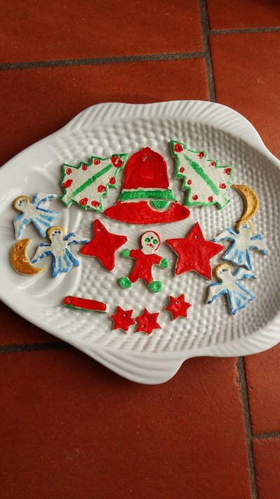 Decorazioni natalizie pasta di sale