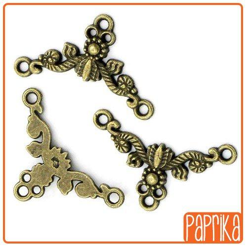 10 connettori bronzo 20mm