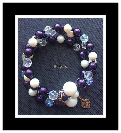 Bracciale Molla Armonica Perle Swarovski Perle di Boemia Cristalli di Boemia