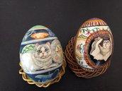 Uova di oca vere dipinte a mano