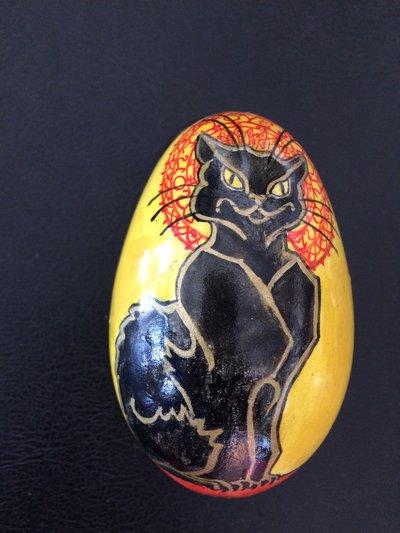 Uovo di oca vero dipinto a mano
