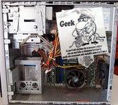 Biglietto d'auguri fatto a mano : Geek-informatico