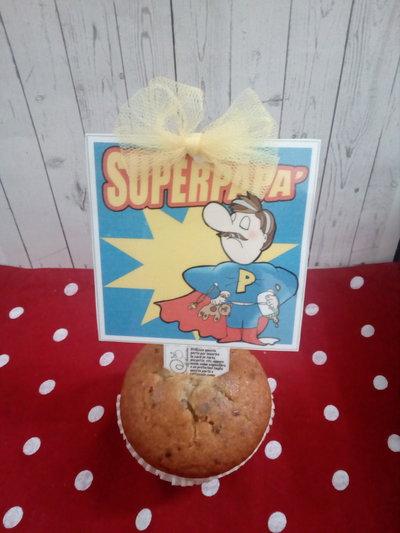 Biglietto d'auguri fatto a mano : Festa del papà-Super papà!