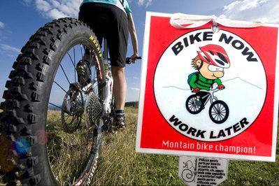 Biglietto d'auguri fatto a mano : Mountain Bike
