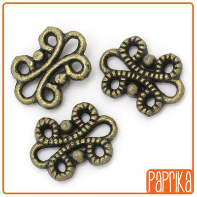 10 connettori bronzo 12mm