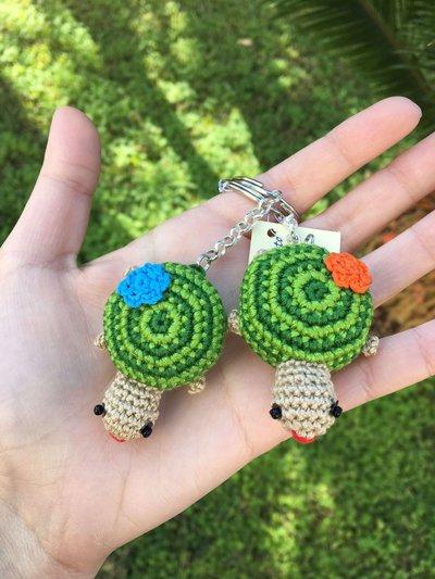 Portachiavi tartaruga amigurumi